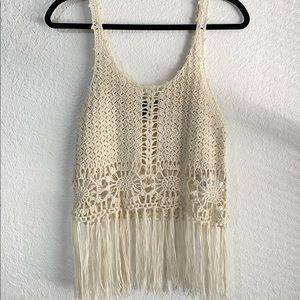 Forever 21 Tops - Forever 21, Knitted Tank Top with Tassels